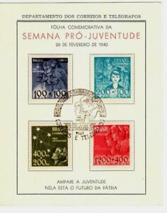 1940 Brazil Four Stamps with Special Cancel - Semana Pro-Juventude SemiPostals