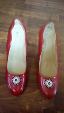 Lady's Red Next Classic Shoes Size 8/42