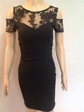 LIPSY LOVE MICHELLE KEEGAN COLD SHOULDER SEQUIN DETAIL BODYCON DRESS S 8 RRP £55