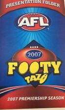 2007 AFL Tazo Footy Presentation Folder Brand-New