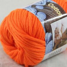 1BallX50g Special Thick Worsted 100% Cotton HAND Knitting Yarn 47 Orange