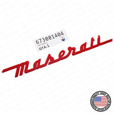 For Maserati Trunk Nameplate Logo Emblem Badges Ghibli Sport OEM Accessories Red