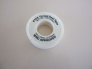 PTFE PLUMBING PLUMBERS White PTFE Tape x2 Threaded Seal Fitting Water 12mm x 12m