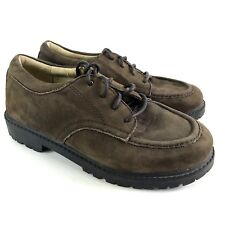 Stride Rite Boys Dress Shoes 1.5 Kids Brown Leather Suede Pinched Oxford Lace Up