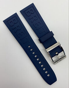 Authentic New Breitling 24mm x 20mm Diver Pro III Blue Rubber Strap 159S OEM