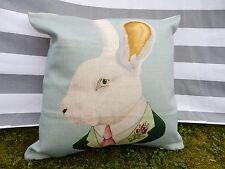 Rabbit Cushion Cover, Cotton Canvas, Traditional, Victorian, Vintage, Designer