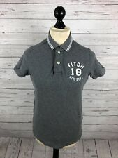 ABERCROMBIE & FITCH Polo Shirt - Small - Grey - Great Condition - Men's