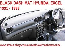 DASH MAT, DASHMAT, DASHBOARD COVER FIT HYUNDAI EXCEL 1995 - 1999, BLACK