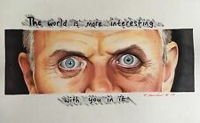 Dr Hannibal Lecter Original Drawing. Fan-Art A4 The Silence Of The Lambs