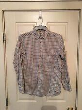 Men's Size Small Reg LL Bean Button Front Shirt Plaid