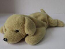 "Ty Fetch Yellow Dog Labrador Beanie Babies Puppy Plush 9"" Beanbag Toy"