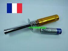 Soquet chauffe bougie starter Glow moteur thermique 1/8 1/10 RC + 1 accu 3000mAh