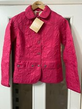 Ladies Barbour Quilted Jacket Size 8 In Pink BNWT