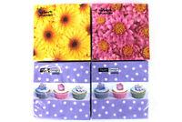 4 Packs of Robert Charles/Paper Design 80-ct Paper Napkins w/ Cupcakes & Flowers