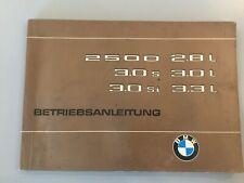 BMW E3 2500-3,3  Betriebsanleitung Handbuch