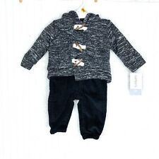 Carter's Baby Outfit Toggle Button Hoodie Corduroy Pants Newborn Buffalo Plaid
