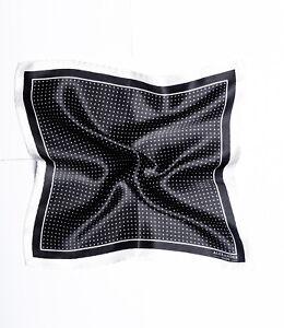 Mens Pocket Square Silk Black Polka Dot Mens Suit Accessories Designer