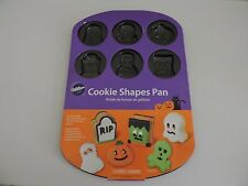 Wilton Cookie Pan Halloween Cavity Shapes Ghost Mummy Pumpkin Skull Party Decor