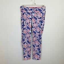 I Love Jewerly Jordann Leggings Size Large Pink And Blue Floral