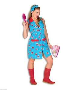 Putzfrau Putzkittel Putz Kostüm Kleid Dienstmädchen Zimmermädchen Stubenmädchen