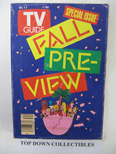 TV Guide  Oct. 1-7  1988  Special Issue Fall Pre-View