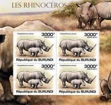Rhinoceros (African White Rhino) Stamp Sheet #4 of 5 (2011 Burundi)