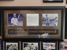 1909 Ty Cobb Model Bat with Letter of Authenticity and History in Display Case