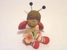 3.5 Inch Resin Boy Lady Bug Valentines Day Figurine Decoration Gift