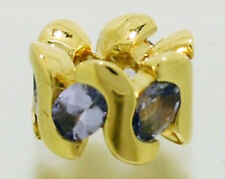 Bd071 AUTHENTIC Genuine Solid 9K 9ct Yellow Gold NATURAL Tanzanite Bead Charm