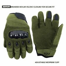 Zephyr Tactical Full Finger Carbon Fiber TOUCHSCREEN Gloves Olive Small