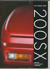 NISSAN 200SX SALES BROCHURE MAY 1989