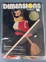 Dimensions Kitchen Witch Needlepoint Kit 2136 5x13 Inches Vintage 1980 USA
