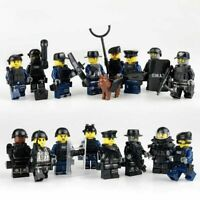 16 SWAT POLICE Military Mini figures Weapon Army SS Soldier Fit Lego Toys UK