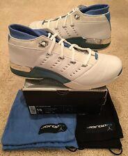 Nike Air Jordan OG Original 17 XVII Low White University Blue Chrome Size 15 UNC