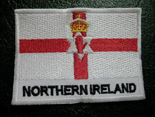 NORTHERN IRELAND NATIONAL FLAG Sew on Patch Free Postage
