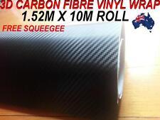 BRAND NEW 3D Carbon Fibre Car Vinyl WRAP Sticker, 1.52M X 10M ,Free Squeegee,OZ