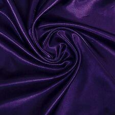1.5 Meters 95%silk, 5% Spandex Stretch Silk Satin Charmeuse Fabric Dark Plum