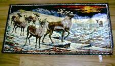 Vintage Woven TAPESTRY Group ELK Colorful MADE IN ITALY Perfect for your Wall!