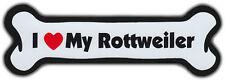 Dog Bone Magnet: I Love My Rottweiler | For Cars, Refrigerators, More