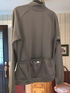 Bellwether Sportwool Pro men's sz M bike shirt back pouches grey jersey jacket