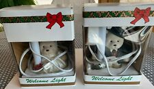 Dayton Hudson Santa Bear & Mrs. Bear Welcome Night Lights Excellent Condition