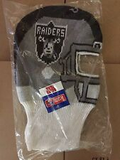 vtg Oakland Raiders game face winter ski mask beanie hat cap snapback LA helmet
