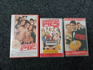 AMERICAN PIE X 3 VHS MOVIES   very good condition