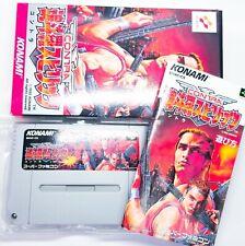 Contra Spirits Nintendo Super Famicom SFC KONAMI Boxed Used VG Japan Retro Game