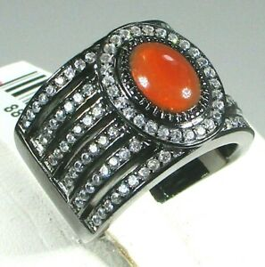 SASSY JONES FIRE OPAL AND ZIRCON RING - SIZE 8 - RETAIL $249