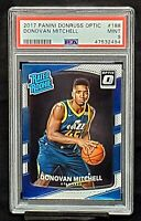 2017 Donruss Optic Jazz RC Star DONOVAN MITCHELL Rookie Card PSA 9 MINT Low Pop