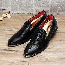 New Men Slip On Pointed Toe Loafer Dress Formal  Wedding Shoe Blue/yellow/Red