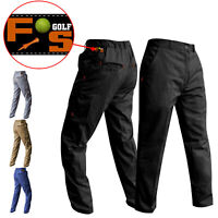 Mens Golf Trousers Tapered Golf Performance Trousers Match Play 3 Leg Lengths