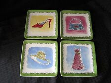 Set of four Diva Collectible Plates, by Pier 1