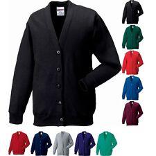 Ladies Women Fleece Plain Sweatshirt Cardigan Top S M L XL XXL